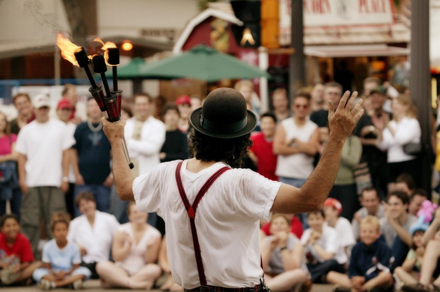 Natürlich sind beim Wir Sind Wien Festival auch Street Performer mit dabei.